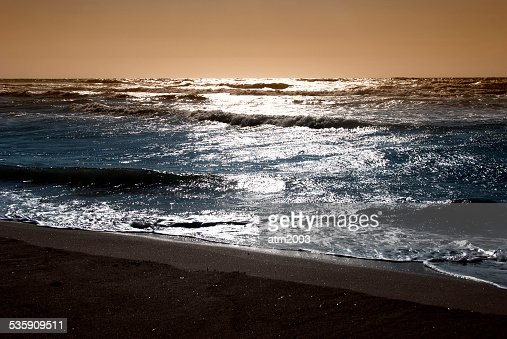 Sea at the sunset : Stock Photo