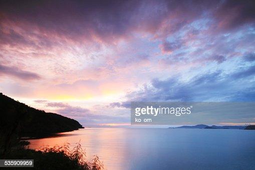 Mar playa y a la bahía : Foto de stock