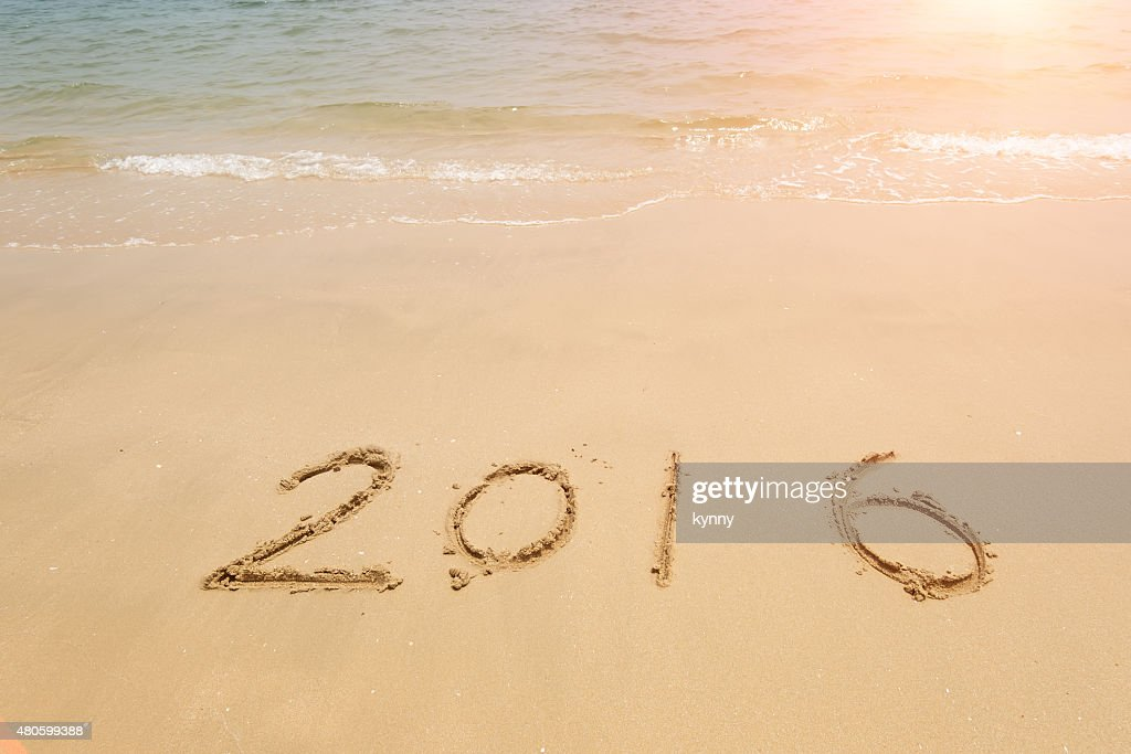 2016 sea beach sand with wave : Stock Photo