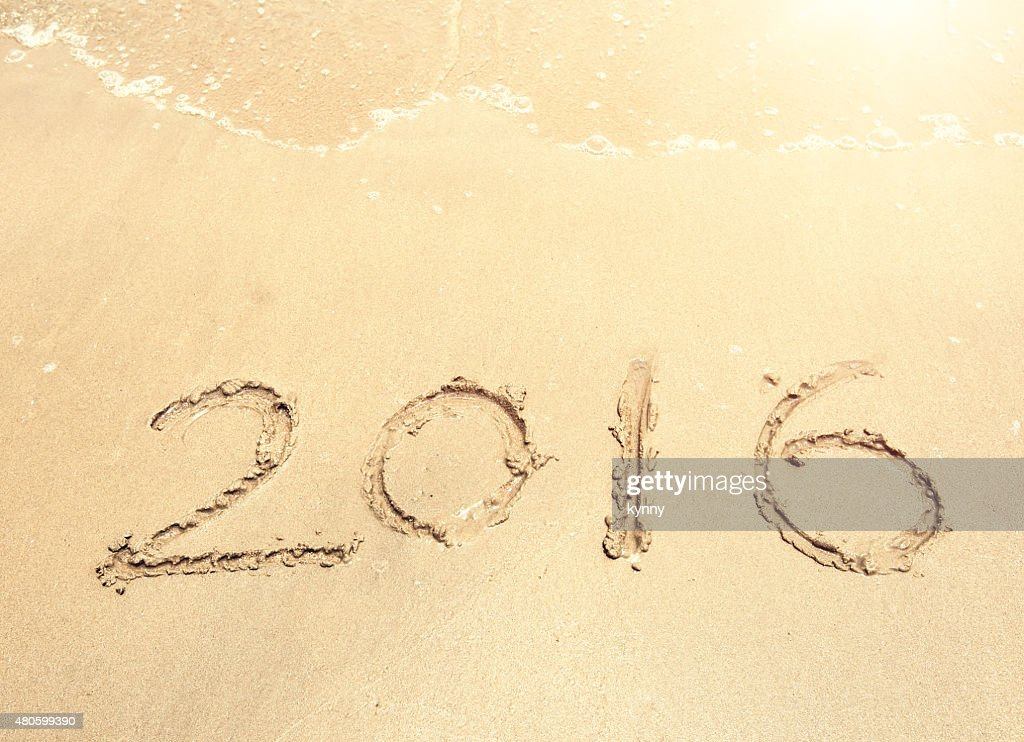 2016 sea beach sand with wave : Stock Photo