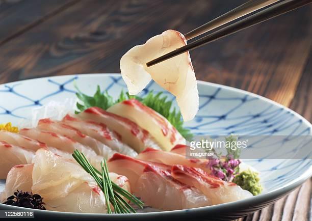 Sea bream sashimi