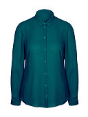 Sea color jade elegant office business woman shirt with a collar isolated