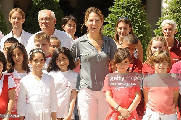 Sea days Celebration in the Palace of Monaco with the Prince Albert of Monaco and Maud Fontenoy with 61 children in need in Monte Carlo Monaco on...