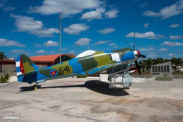 Sea Fury airplane on display at Museo Giron museum, Bahia de Cochinos (Bay of Pigs).