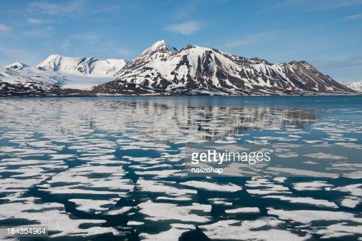 Sea ice around Svalbard in the Arctic