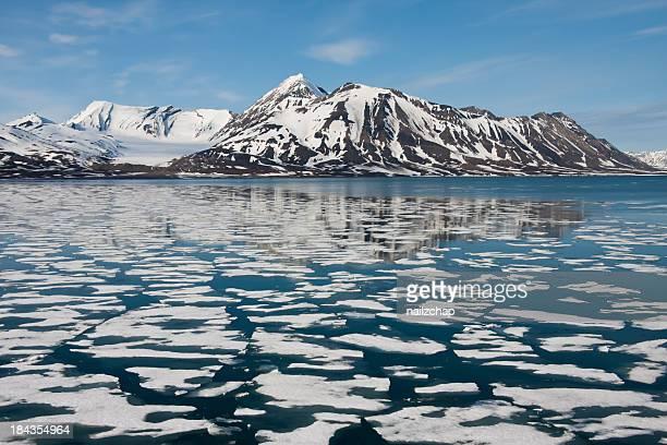Meer-in Spitzbergen in der Arktis