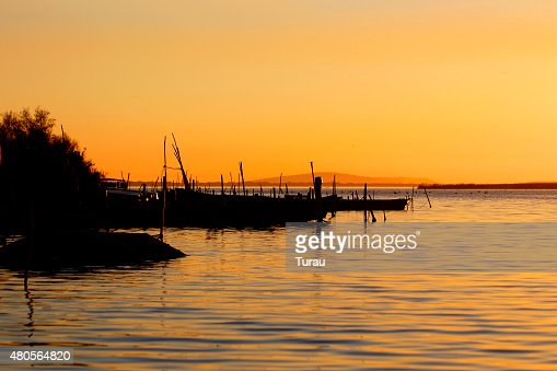 Sea In The Sunset : Stock Photo