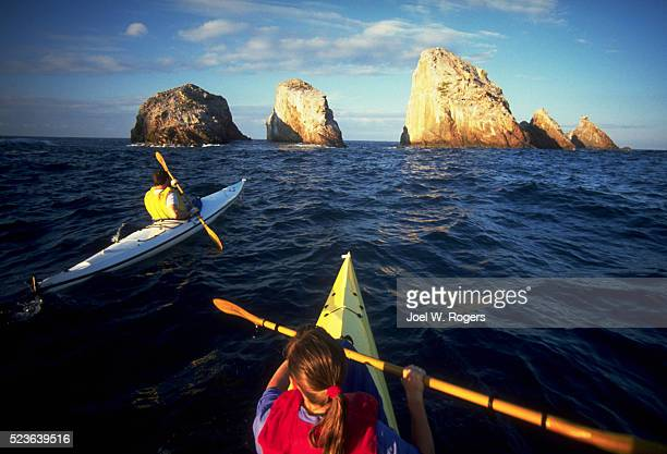 Sea Kayakers Heading For Sea Stacks
