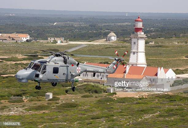 A Sea Lynx helicopter of the Portuguese Navy unit near Lisbon, Portugal.