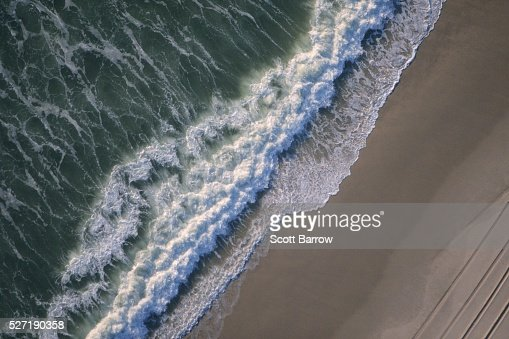 Sea meeting sand : Stock Photo