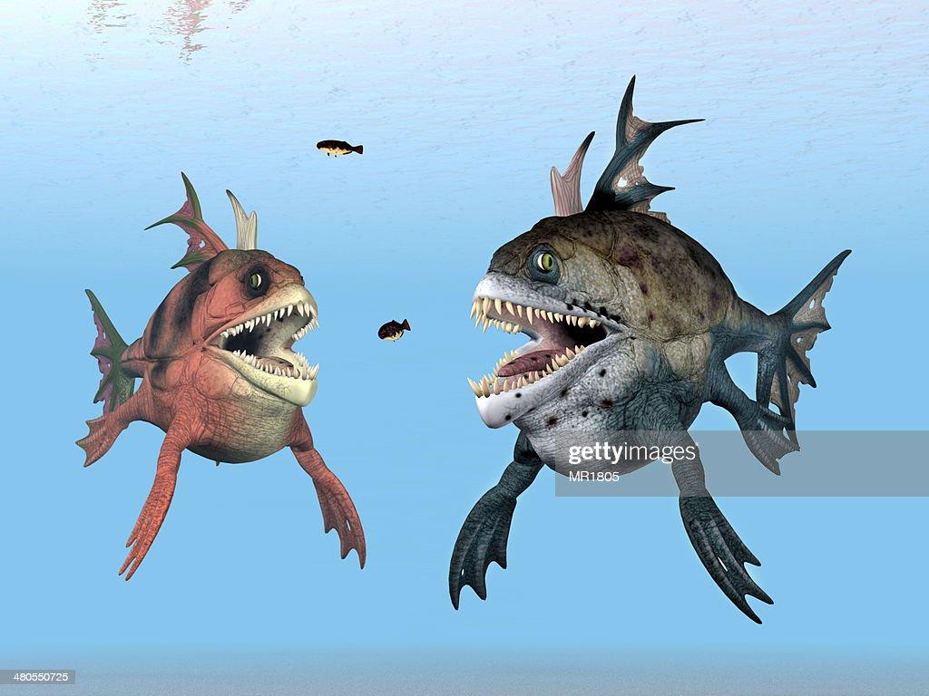 Monstruos al mar : Foto de stock