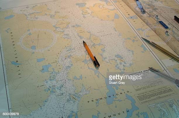 Sea Navigation Chart