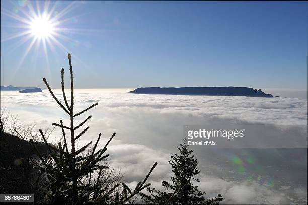Sea of clouds in winter