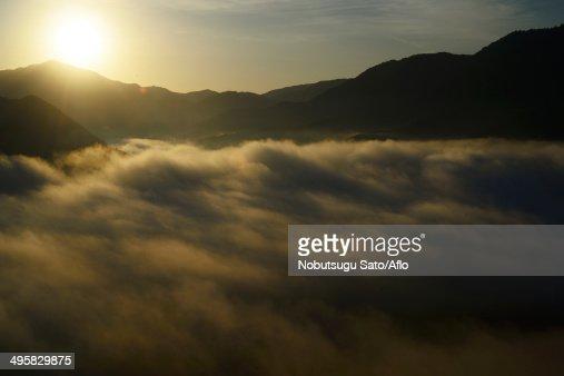 Sea of clouds, Japan