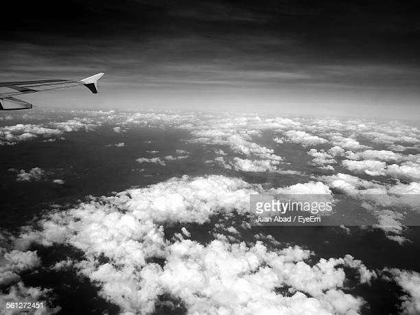 Sea Of Clouds Seen Through Airplane Window