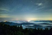 Sea of clouds under the stars