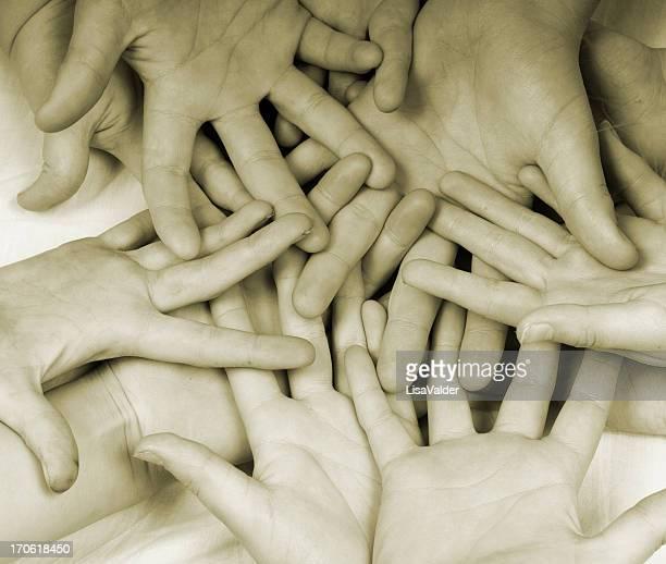 Sea of hands
