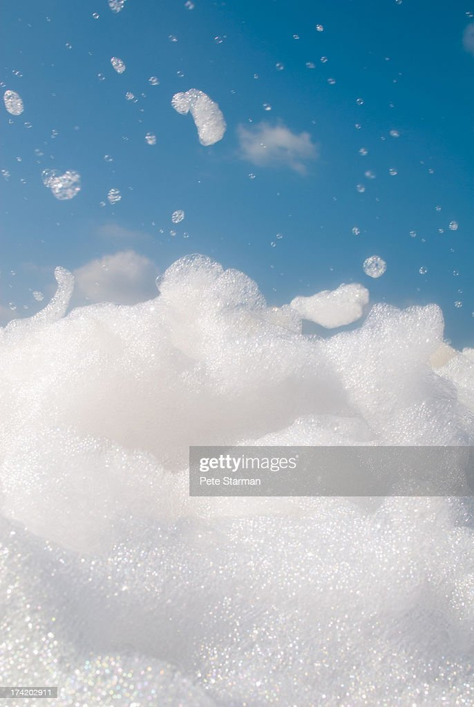 Sea of soap suds from a foam pit obstacle
