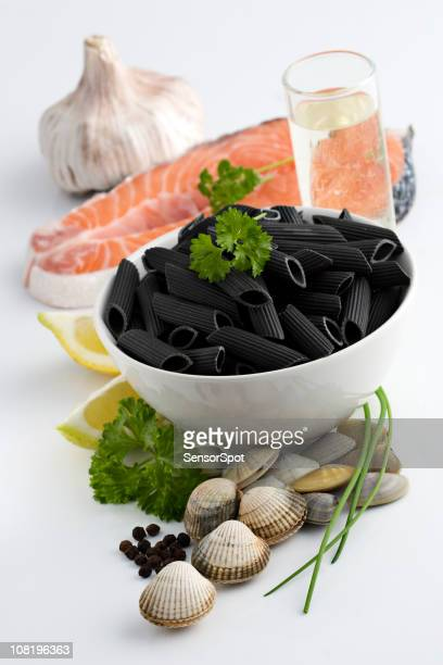 Sea pasta ingredients