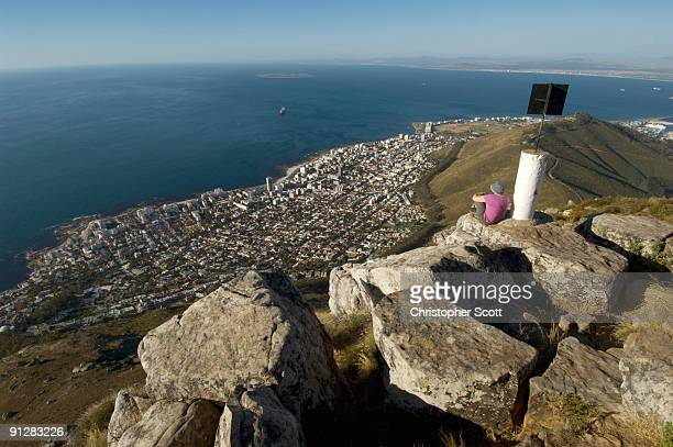 Sea Point seen from Lions Head, Table Mountain National Park, Cape Town, Western Cape Province, Sout