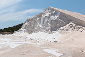 Mountain of Sea Salt at a desalination plant, Ibiza