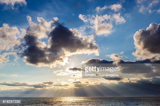sea shore with a sandy beach : Stock Photo