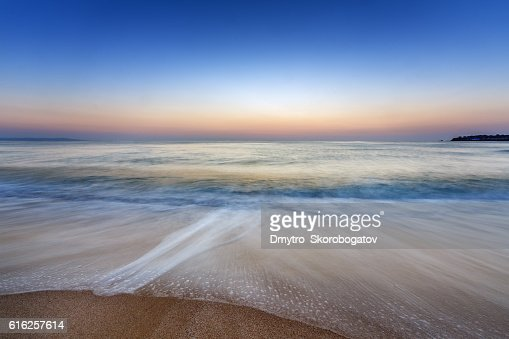 sea shore with a sandy beach : Foto de stock