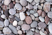 Sea stone background. Pile of stones.