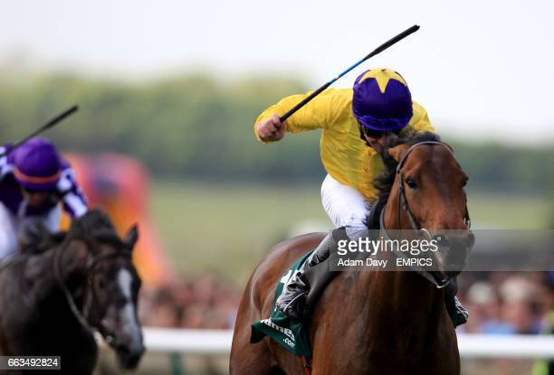 Sea the Stars ridden by Mick Kinane comes home to win the stanjamescom 2000 Guineas Stakes