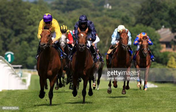 Sea The Stars ridden by MIck Kinane comes home to win The Coral Eclipse ahead of second placed Rip Van Winkle ridden by Jimmy Fortune
