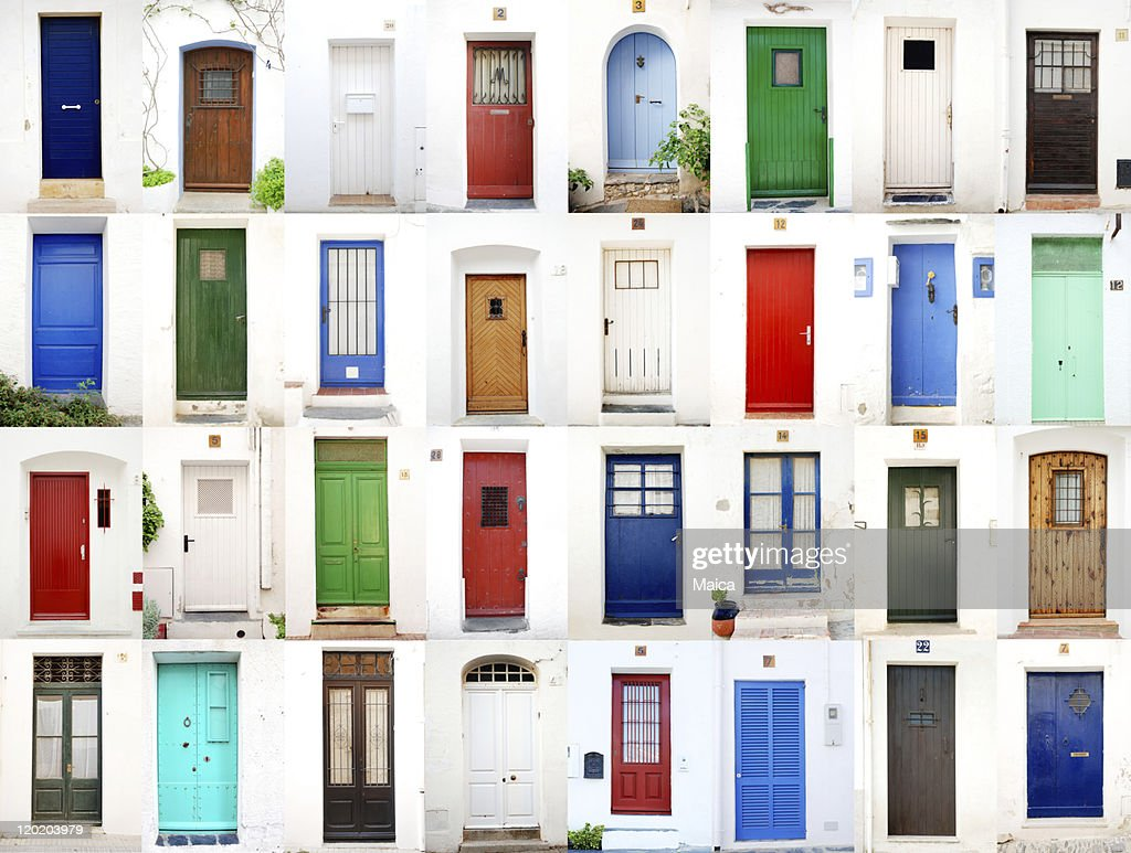 Sea village doors : Stock Photo