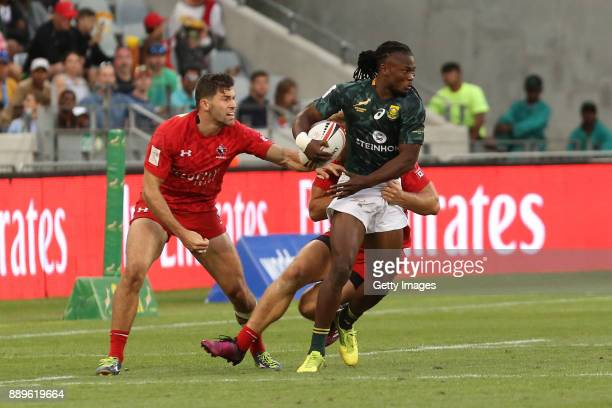 Seabelo Senatla of South Africa during day 2 of the 2017 HSBC Cape Town Sevens at Cape Town Stadium on December 10 2017 in Cape Town South Africa