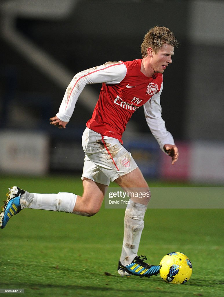 Sead Hajrovic of Arsenal during the Barclays Premier Reserve League match between Wolverhampton Wanderers Reserves and Arsenal Reserves at AFC...