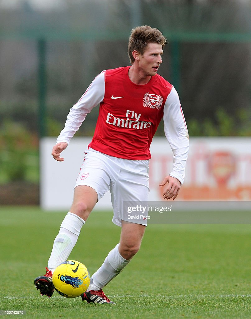 Sead Hajrovic of Arsenal in action during the Barclays Premier Reserve League match between Arsenal Reserves and Aston Villa Reserves at London...