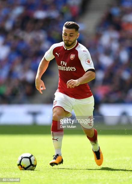 Sead Kolasinac of Arsenal controls the ball during the FA Community Shield between Chelsea and Arsenal at Wembley Stadium on August 6 2017 in London...