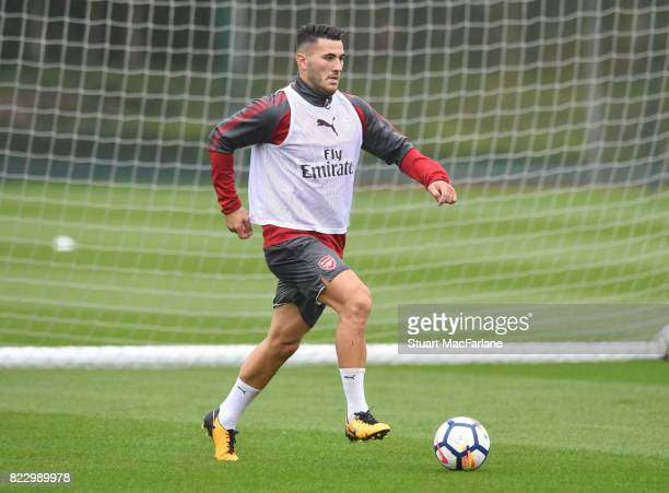 Sead Kolasinac of Arsenal during a training session at London Colney on July 26 2017 in St Albans England