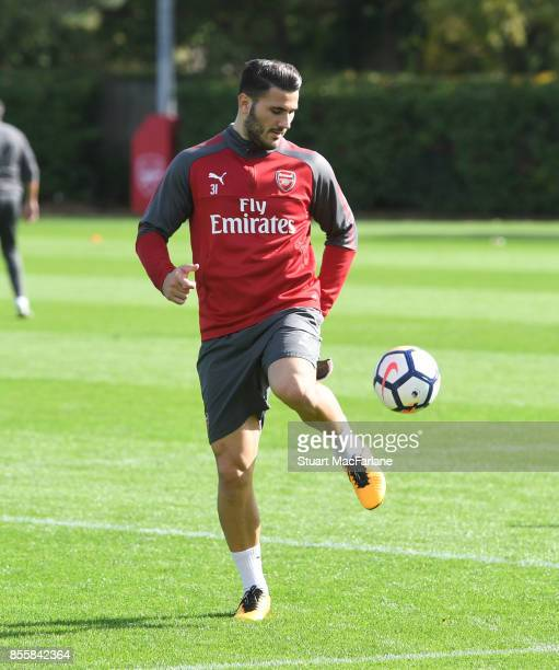 Sead Kolasinac of Arsenal during a training session at London Colney on September 30 2017 in St Albans England