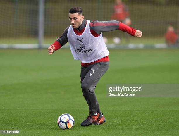 Sead Kolasinac of Arsenal during a training session at London Colney on October 21 2017 in St Albans England