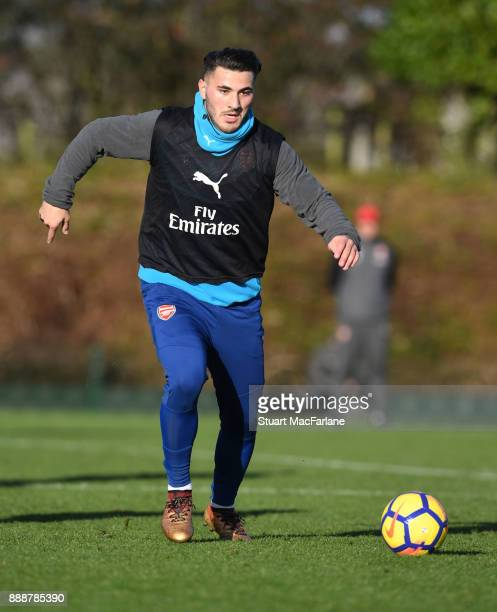 Sead Kolasinac of Arsenal during a training session at London Colney on December 9 2017 in St Albans England