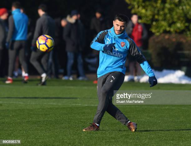 Sead Kolasinac of Arsenal during a training session at London Colney on December 12 2017 in St Albans England