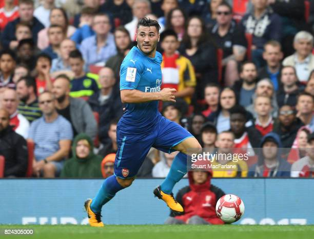 Sead Kolasinac of Arsenal during the Emirates Cup match between Arsenal and SL Benfica at Emirates Stadium on July 29 2017 in London England