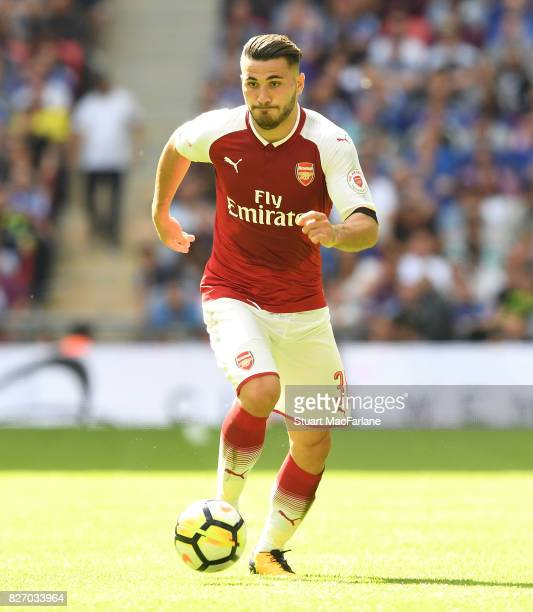 Sead Kolasinac of Arsenal during the FA Community Shield match between Chelsea and Arsenal at Wembley Stadium on August 6 2017 in London England