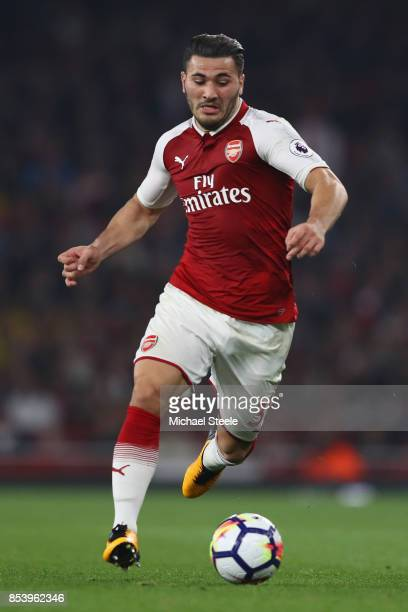 Sead Kolasinac of Arsenal during the Premier League match between Arsenal and West Bromwich Albion at Emirates Stadium on September 25 2017 in London...
