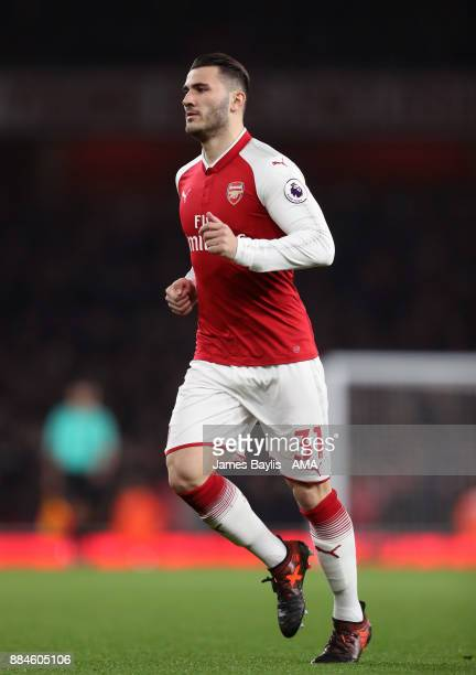 Sead Kolasinac of Arsenal during the Premier League match between Arsenal and Manchester United at Emirates Stadium on December 2 2017 in London...