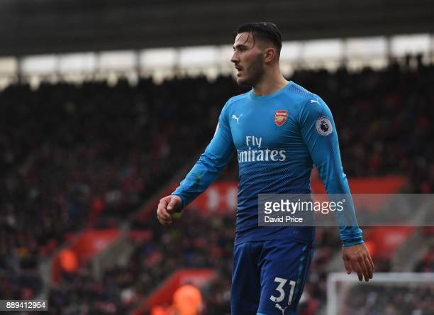 Sead Kolasinac of Arsenal during the Premier League match between Southampton and Arsenal at St Mary's Stadium on December 10 2017 in Southampton...