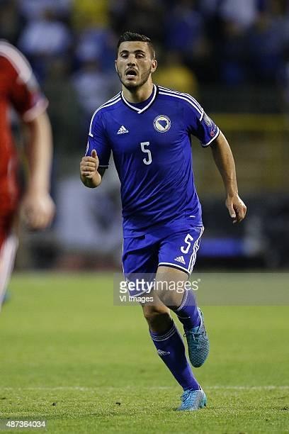 Sead Kolasinac of Bosnia and Herzegovina during the UEFA Euro 2016 qualifying match between Belgium and Bosnia and Herzegovina on September 3 2015 at...