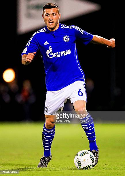 Sead Kolasinac of FC Schalke 04 in action during the match against the Fort Lauderdale Strikers at the ESPN Wide World of Sports Complex on January...