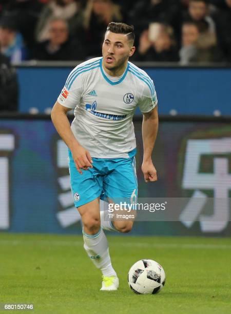Sead Kolasinac of Schalke controls the ball during to the Bundesliga match between Bayer 04 Leverkusen and FC Schalke 04 at BayArena on April 28 2017...