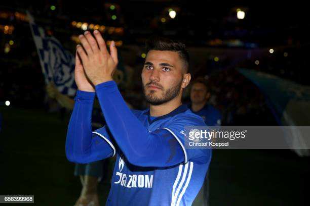 Sead Kolasinac of Schalke is seen after the 20 years of Eurofighter match between Eurofighter and Friends and Euro All Stars at Veltins Arena on May...