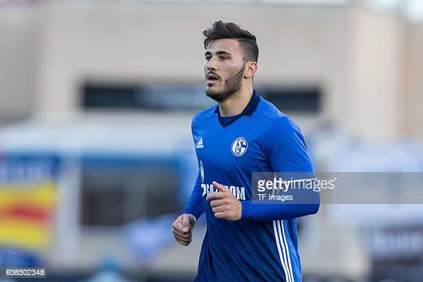 Sead Kolasinac of Schalke looks on during the friendly match between FC Schalke 04 v KV Oostende Friendly Match at Estadio Municipal Guillermo Amor...